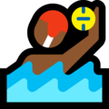 Man Playing Water Polo: Medium-Dark Skin Tone on Microsoft Windows 10 April 2018 Update
