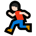 Man Running: Light Skin Tone on Microsoft Windows 10 April 2018 Update