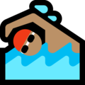 Man Swimming: Medium Skin Tone on Microsoft Windows 10 April 2018 Update