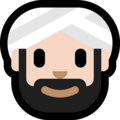 Man Wearing Turban: Light Skin Tone on Microsoft Windows 10 April 2018 Update