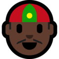 Man With Chinese Cap: Dark Skin Tone on Microsoft Windows 10 April 2018 Update