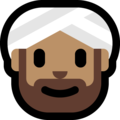 Person Wearing Turban: Medium Skin Tone on Microsoft Windows 10 April 2018 Update