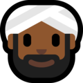 Person Wearing Turban: Medium-Dark Skin Tone on Microsoft Windows 10 April 2018 Update