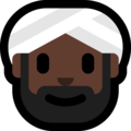 Person Wearing Turban: Dark Skin Tone on Microsoft Windows 10 April 2018 Update