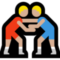 Men Wrestling, Type-3 on Microsoft Windows 10 April 2018 Update