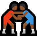 Men Wrestling, Type-5 on Microsoft Windows 10 April 2018 Update