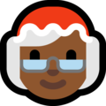 Mrs. Claus: Medium-Dark Skin Tone on Microsoft Windows 10 April 2018 Update