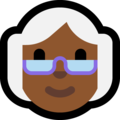 Old Woman: Medium-Dark Skin Tone on Microsoft Windows 10 April 2018 Update