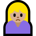 Person Frowning: Medium-Light Skin Tone on Microsoft Windows 10 April 2018 Update