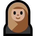 Person With Headscarf: Medium-Light Skin Tone on Microsoft Windows 10 April 2018 Update