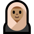 Person With Headscarf: Medium Skin Tone on Microsoft Windows 10 April 2018 Update