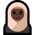 Person With Headscarf: Dark Skin Tone on Microsoft Windows 10 April 2018 Update