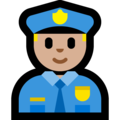 Police Officer: Medium-Light Skin Tone on Microsoft Windows 10 April 2018 Update