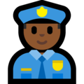 Police Officer: Medium-Dark Skin Tone on Microsoft Windows 10 April 2018 Update