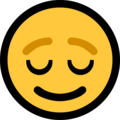 Relieved Face on Microsoft Windows 10 April 2018 Update