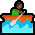 Person Rowing Boat: Medium-Dark Skin Tone on Microsoft Windows 10 April 2018 Update