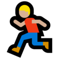 Person Running: Medium-Light Skin Tone on Microsoft Windows 10 April 2018 Update