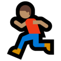 Person Running: Medium Skin Tone on Microsoft Windows 10 April 2018 Update