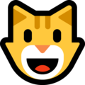 Grinning Cat Face on Microsoft Windows 10 April 2018 Update