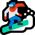 Snowboarder: Dark Skin Tone on Microsoft Windows 10 April 2018 Update