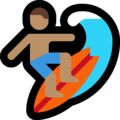 Person Surfing: Medium Skin Tone on Microsoft Windows 10 April 2018 Update