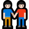 Two Men Holding Hands, Type-1-2 on Microsoft Windows 10 April 2018 Update