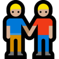 Two Men Holding Hands, Type-3 on Microsoft Windows 10 April 2018 Update