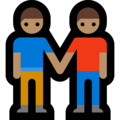 Two Men Holding Hands, Type-4 on Microsoft Windows 10 April 2018 Update