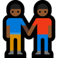Two Men Holding Hands, Type-5 on Microsoft Windows 10 April 2018 Update