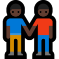 Two Men Holding Hands, Type-6 on Microsoft Windows 10 April 2018 Update