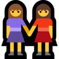 Two Women Holding Hands on Microsoft Windows 10 April 2018 Update