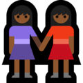 Two Women Holding Hands, Type-5 on Microsoft Windows 10 April 2018 Update