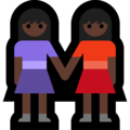 Two Women Holding Hands, Type-6 on Microsoft Windows 10 April 2018 Update