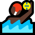 Person Playing Water Polo: Dark Skin Tone on Microsoft Windows 10 April 2018 Update