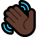 Waving Hand: Dark Skin Tone on Microsoft Windows 10 April 2018 Update