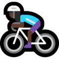 Woman Biking: Dark Skin Tone on Microsoft Windows 10 April 2018 Update