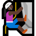 Woman Climbing: Dark Skin Tone on Microsoft Windows 10 April 2018 Update