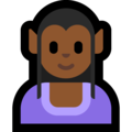 Woman Elf: Medium-Dark Skin Tone on Microsoft Windows 10 April 2018 Update