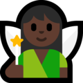Woman Fairy: Dark Skin Tone on Microsoft Windows 10 April 2018 Update