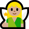 Woman Fairy: Medium-Light Skin Tone on Microsoft Windows 10 April 2018 Update