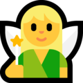 Woman Fairy on Microsoft Windows 10 April 2018 Update