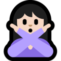 Woman Gesturing No: Light Skin Tone on Microsoft Windows 10 April 2018 Update