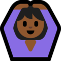 Woman Gesturing OK: Medium-Dark Skin Tone on Microsoft Windows 10 April 2018 Update