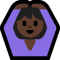 Woman Gesturing OK: Dark Skin Tone on Microsoft Windows 10 April 2018 Update
