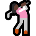 Woman Golfing: Dark Skin Tone on Microsoft Windows 10 April 2018 Update