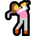Woman Golfing on Microsoft Windows 10 April 2018 Update