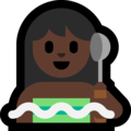 Woman in Steamy Room: Dark Skin Tone on Microsoft Windows 10 April 2018 Update