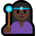 Woman Mage: Dark Skin Tone on Microsoft Windows 10 April 2018 Update