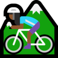 Woman Mountain Biking: Medium-Dark Skin Tone on Microsoft Windows 10 April 2018 Update