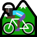 Woman Mountain Biking: Dark Skin Tone on Microsoft Windows 10 April 2018 Update